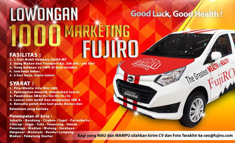 Lowongan 1000 Marketing
